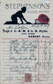Bill for furnishings and household goods G.B.Hyde & Son Ramsey