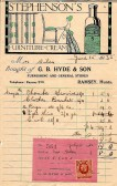 Bill for household goods G.B.Hyde & Sons Ramsey