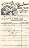Bill for household goods G.B.Hyde & Son Ramsey