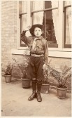 George Ernest Hyde of 44 High St. Ramsey. As a boy scout on the day he was awarded a bravery certificate signed by Baden Powell
