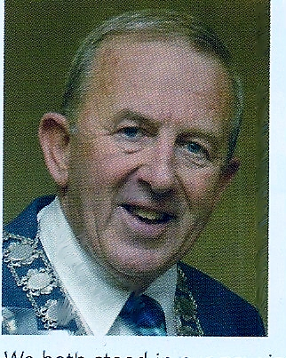 George Richard Hyde last owner of G.B.Hyde & Son Ramsey, with the collar of District Chairman of Rotary