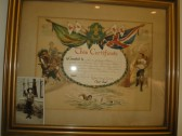 Certificate awarded to Scout George Ernest Hyde of the 37 Hunts (2nd Ramsey) Troup signed by Baden Powell 16 July 1921.