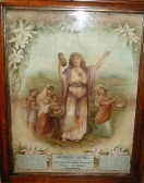 Calendar produced for George Hyde's shop at 44 High St. Ramsey. Dated 1898