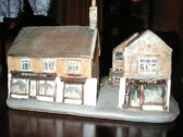 Model of 44 & 46 High St. Ramsey presented to George Richard Hyde on this 60th birthday in 2000