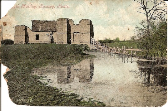 Biggin Malting, Ramsey. Taken from a postcard postmarked Ramsey 26 Feb 1913
