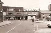 Top end of Great Whyte, Ramsey, looking from Little Whyte. showing part of Burtons store being demolished
