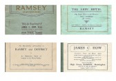 "Booklet ""The Residential Attractions of Ramsey& District"" given by James C How FAI of High St. Ramsey to home seekers.(no.1 of 6 entries)"