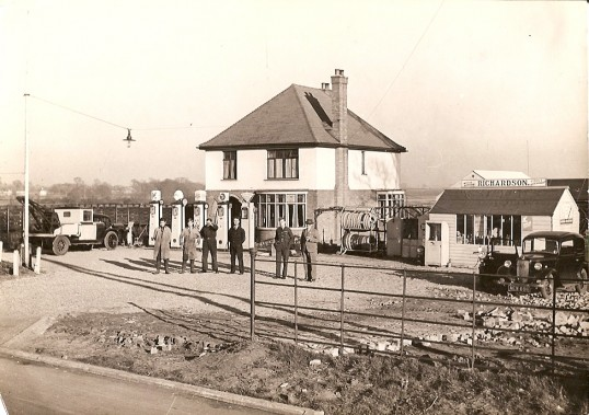 Richardson's Garage, Bury Road, Bury.Now site of Burtons Garage.