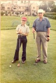 Youngest and oldest competetive players at Ramsey Golf Club. E.P.Brand (69) & M.J.Tingey (12). Tingey won on the 19th