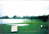 Ramsey Golf Course in flood. 1st tee.