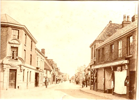 The National Provincial and Union Bank, corner of High Street and Great Whyte, Ramsey. Copyright RBS see text.. The History of NatWest Bank, High Street, Ramsey