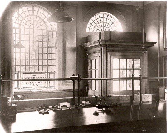 The view from the cahiers desk, National Provincial and Union Bank, High Street, Ramsey. (now NatWest).Copyright RBS, see text. The History of NatWest Bank, High Street, Ramsey