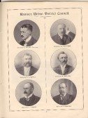 Members of Ramsey Urban District Council from the Huntingdonshire Coronation Souvenir.G Fuller, E D Whittome, EV Sewel, W Shelton, J I Major, A Newton