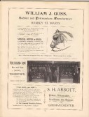 Advert for William J Goss, Fordham & Son, S H Abbott from Huntingdonshire Coronation Souvenir