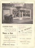 Advert for Curry, Noble & Son, E G Riddy taken from Huntingdonshire Coronation Souvenir