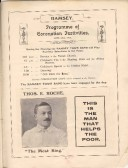 Programme of Coronation festivities at Ramsey and advert for Thos E Roche 'The Meat King' from Huntingdonshire Coronstion Souvenir