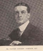 Mr Oliver Locker Lampson MP, MP for Ramsey. From Huntingdonshire Coronation Souvenir.Later Commander RNAS CMG & DSO