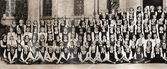 Ramsey Abbey Grammer School photograph, Left hand section.