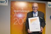 Ted Howard of Jones Court, Ramsey receiving his Learndirect Award.. Ted Howard's Learndirect Award 17 June 2008