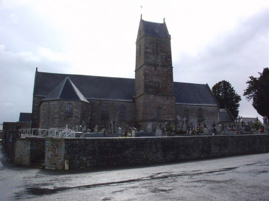 The Church at Vaudry, Normandy, France where Arthur Papworth of Ramsey Mereside is buried