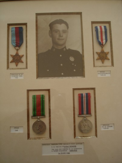 The medals of Arthur Papworth of Ramsey Mereside, given to the town of Vaudry, Normandy, France, where he is buried.
