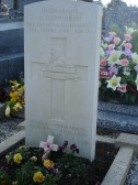 The Grave of Arthur Papworth at Vaudry, Normandy, France