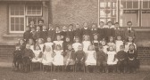 Ramsey Mereside School, teachers and children f.rom the first year