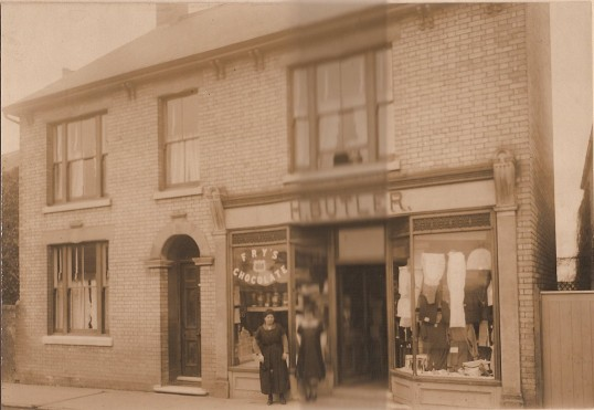 H Butler's High St. Ramsey grocery and knitting shop.Originally owned by Henry and Grace Butler and taken over by Reg and Grace.