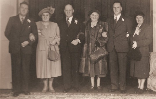 Butler family of Ramsey FortyFoot. Reg, Grace, Henry (sen) Grace, Percy and Ella.