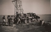Henry Butler of Ramsey FortyFoot with Royal Engineers drilling for oil in the desert.