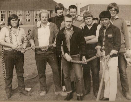 Ramsey Comprehensive Sports Day. Tug-of-War team.