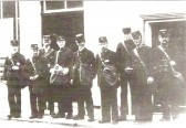 Postal Workers outside the Old Post Ofice, High Street, Ramsey