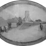 Bridge Cottages High Street, Bury and Church. L/r Thomas Whye,Joseph Lenton,Rhoda Lenton( Nee Whye). Whye Thomas