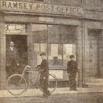 Ramsey Post Office, 12 Great Whyte.See text for information. Ramsey Post office in 1900