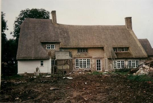 'Julians' Bury during renovations.  Courtesy P Walker. 'Julians' Owls End Bury