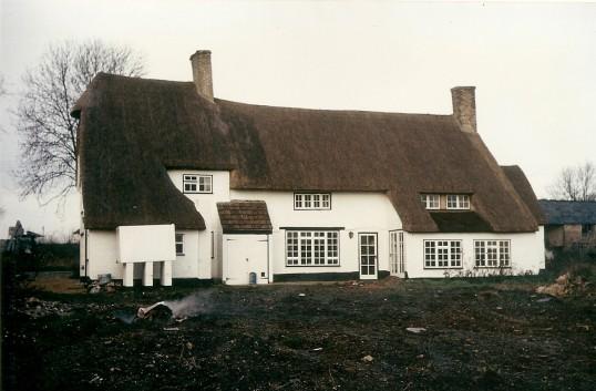'Julians' Bury during renovation.  Courtesy P Walker. 'Julians' Owls End Bury