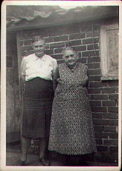 Eliza Marjoram with daughter Edith, Leiston, Suffolk. Eliza - grandmother of Percy Marjoram, Pastor of Salem Baptist Church (1975-1986) in Ramsey.
