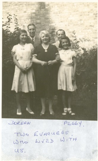 Doreen and Peggy, Evaccuees who stayed with Harry and Dorris Godfrey at  29 High Street Ramsey.
