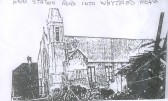 Bombing of Ramsey Methodist Church and nearby buildings.