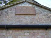 Memorial plaque to F T Allen, former headmaster of Ramsey Grammer School now the Spinney School.