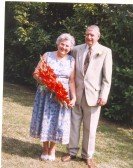 Peter & Edith  Chamberlain on their 50th wedding anniversary.