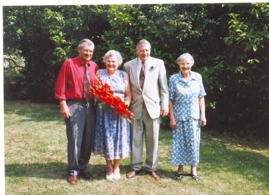 The 50th Wedding aniversary of Peter & Edith Chamberlain of Ramsey