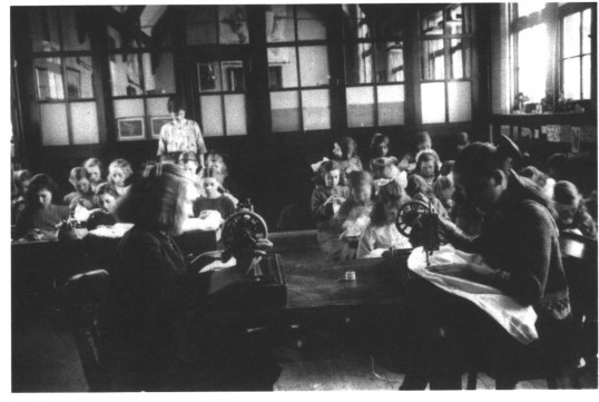 The Forty Foot School sewing class of 1924, the girl on the right forefront is Vera Bailey (nee Marriot)