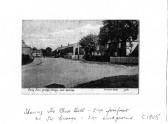 Ramsey Forty Foot showing the Blue Bell - Pub sign forefrontand the George - sign backround 1908 at Ramsey Forty Foot