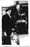 Emma Cooper on her retirement with Lord De Ramsey in the late 1950's.  Emma and her sister Jinny Bedford were the Post Ladies.