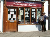 Ramsey 1940s Weekend 2006. 1st place Best Window Display awarded to Ramsey Community Information Centre