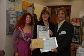 Learner of the Year presentation to Ivan Gowler at the Ramsey Community Information Centre.