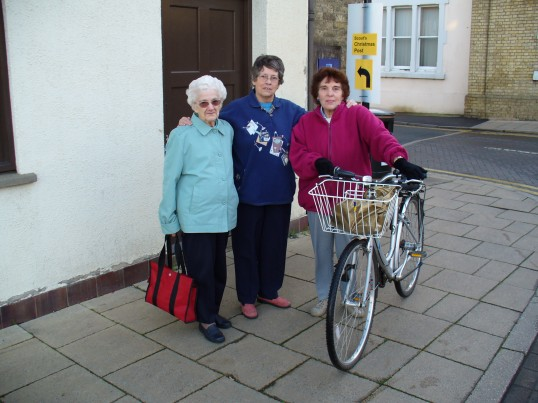 Left to right Vi, Mavis,& Hazel, at the corner of Little Whyte & the Great Whyte Ramsey, in the spring of 2007