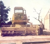 Clayson New Holland Combine Harvester, the last one worked by Ted Howard at Ramsey Mereside Farm.