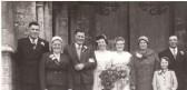 The wedding of Derick Townsend & Avril Joan Howard,at Benwick Church.